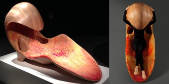 Neri Oxman's Chaise Lounge was 3D printed using Stratasys' advanced multi-material technology